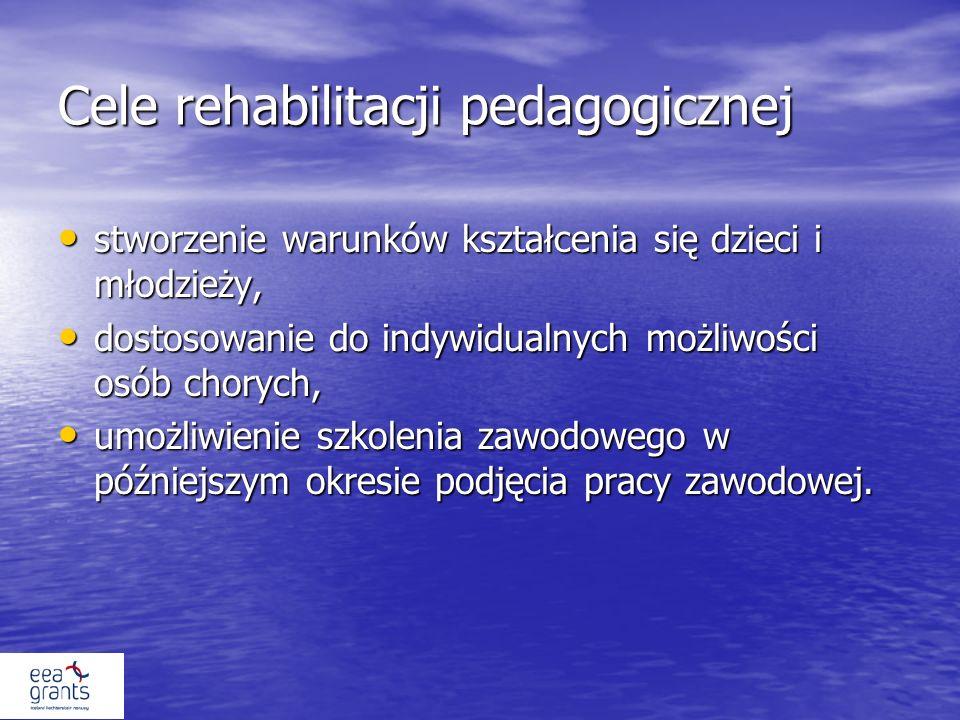 Cele rehabilitacji pedagogicznej