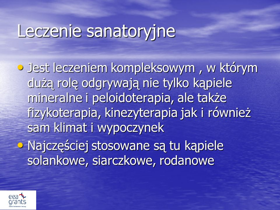 Leczenie sanatoryjne
