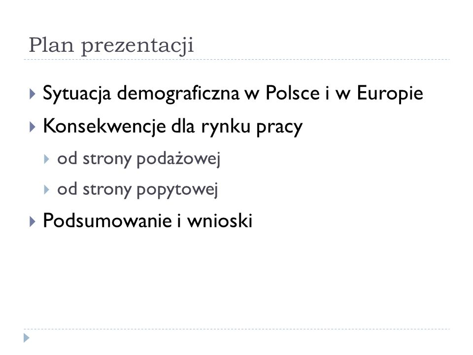 Sytuacja demograficzna w Polsce i w Europie