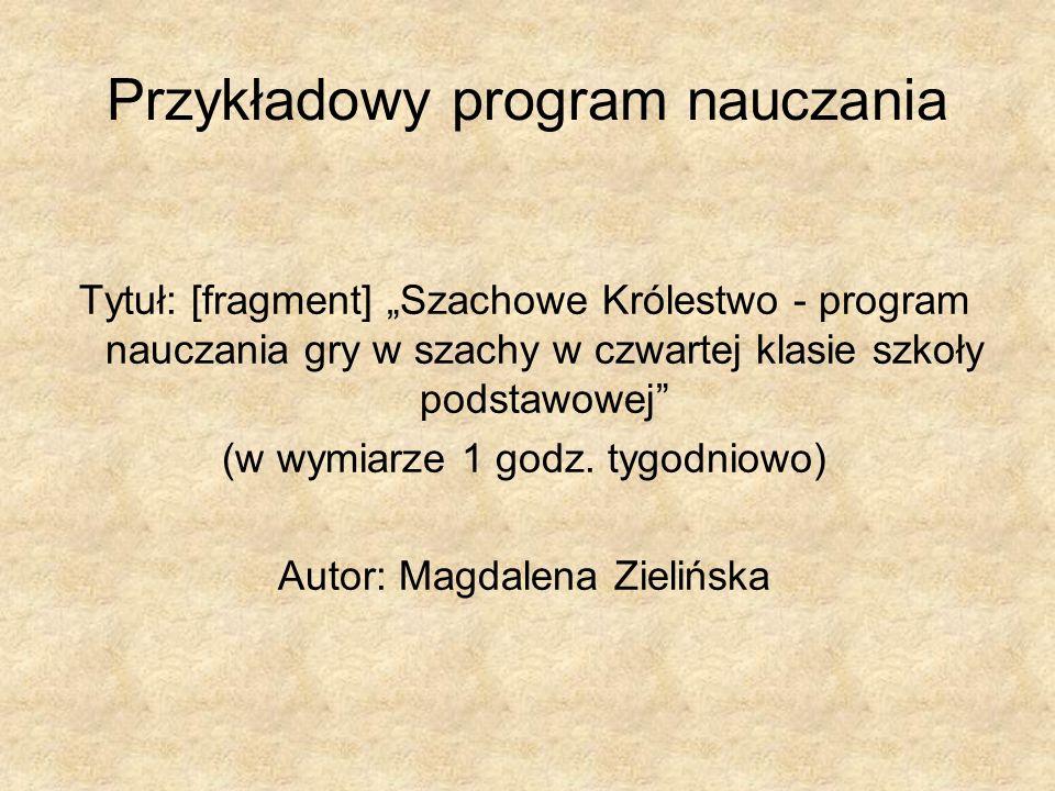 Przykładowy program nauczania