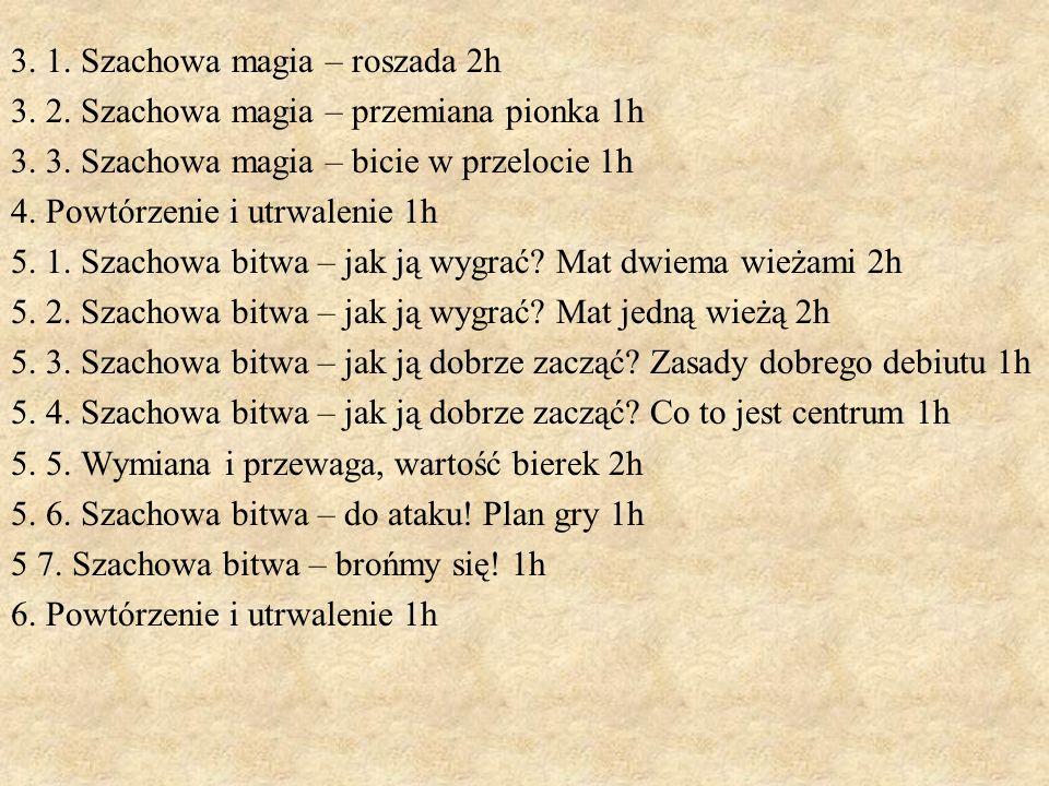 3. 1. Szachowa magia – roszada 2h