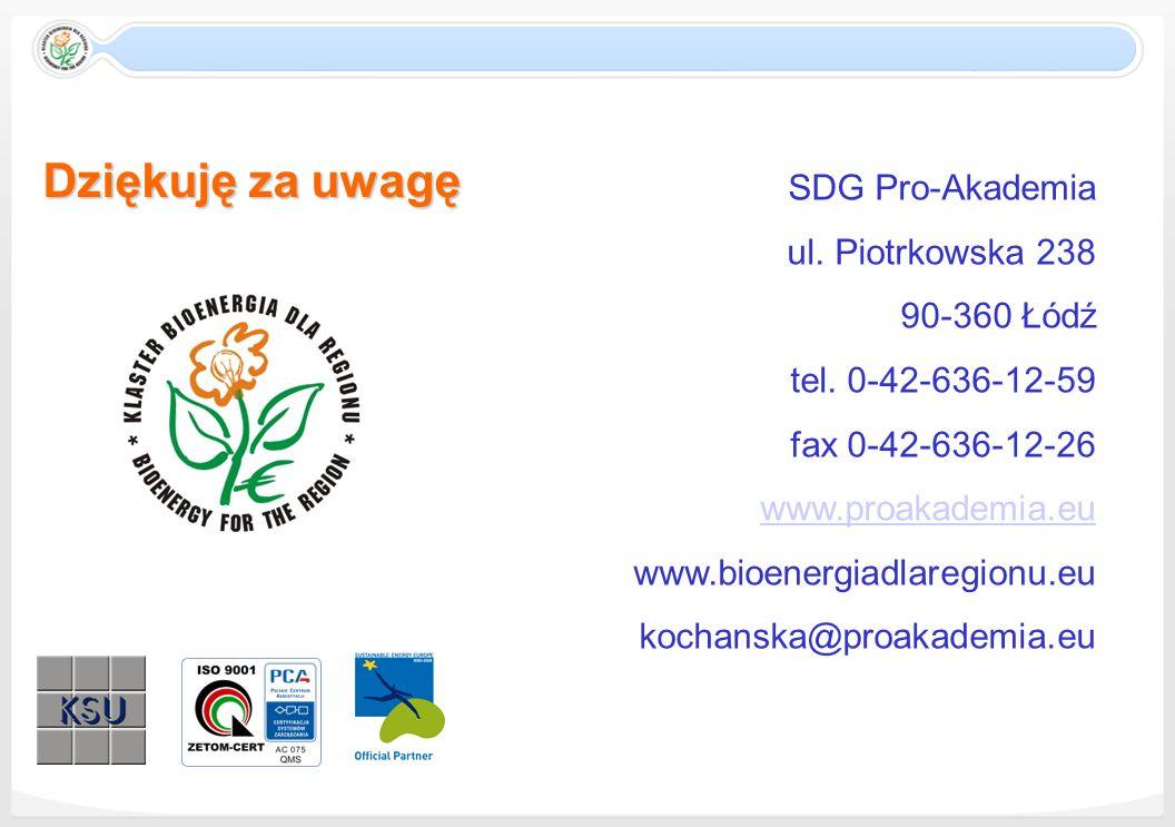 Dziękuję za uwagę SDG Pro-Akademia ul. Piotrkowska 238 90-360 Łódź