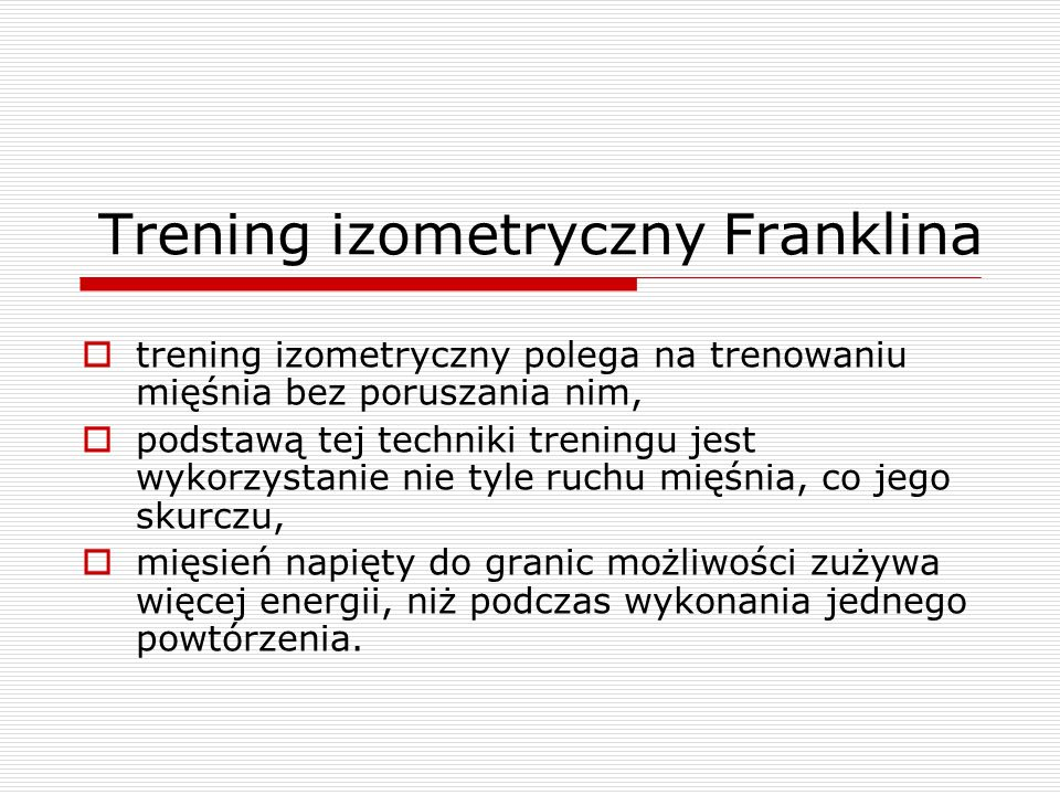 Trening izometryczny Franklina