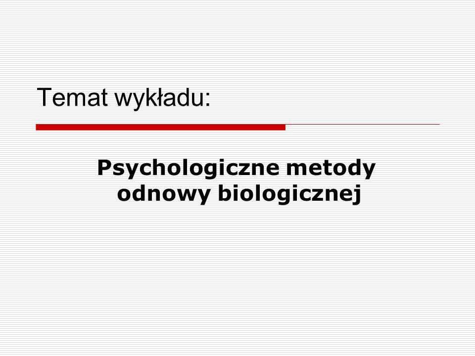 Psychologiczne metody