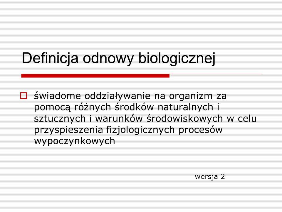 Definicja odnowy biologicznej