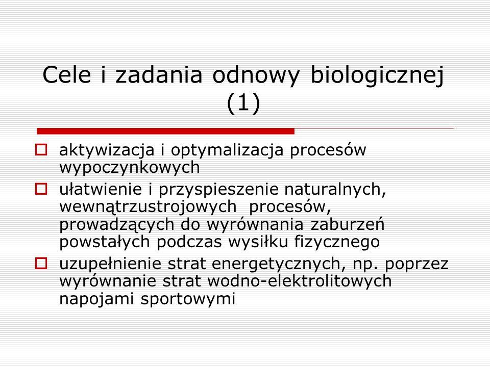 Cele i zadania odnowy biologicznej (1)