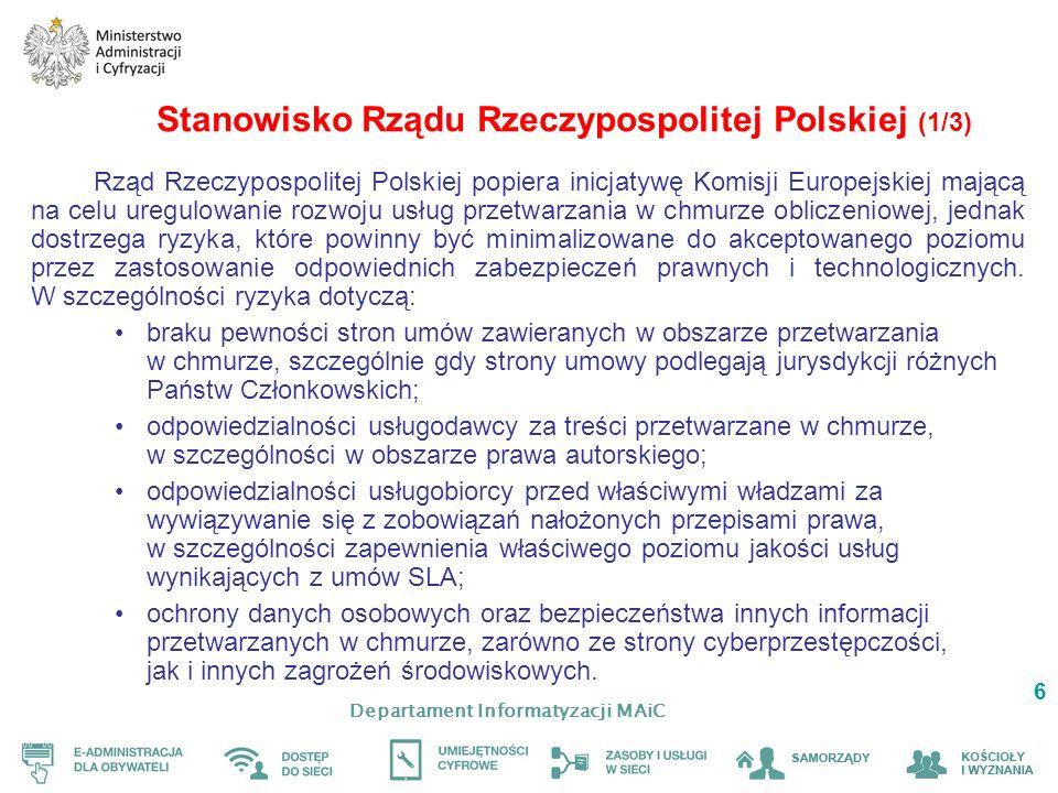 Stanowisko Rządu Rzeczypospolitej Polskiej (1/3)