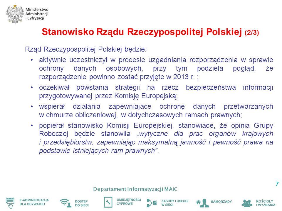 Stanowisko Rządu Rzeczypospolitej Polskiej (2/3)