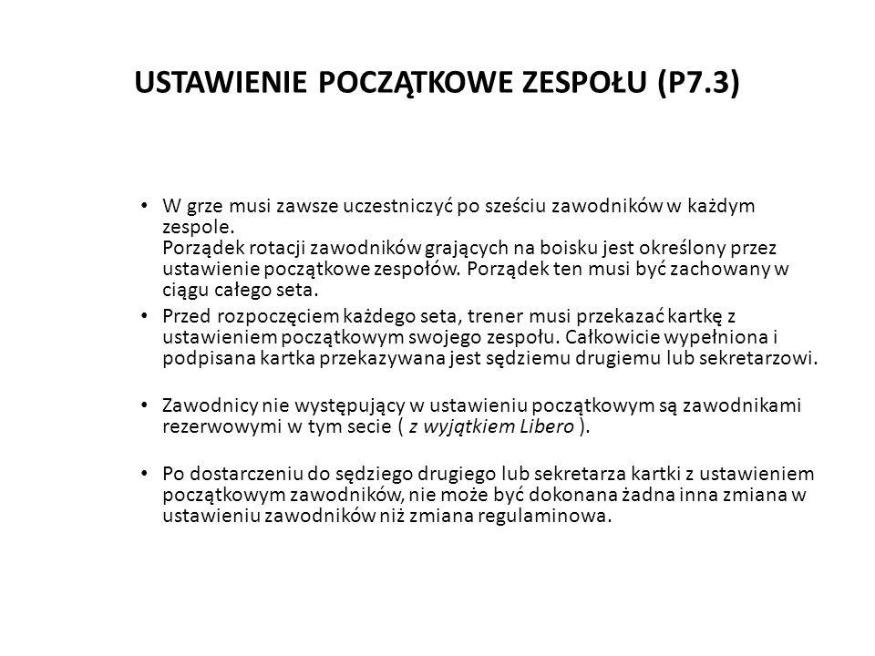 USTAWIENIE POCZĄTKOWE ZESPOŁU (P7.3)