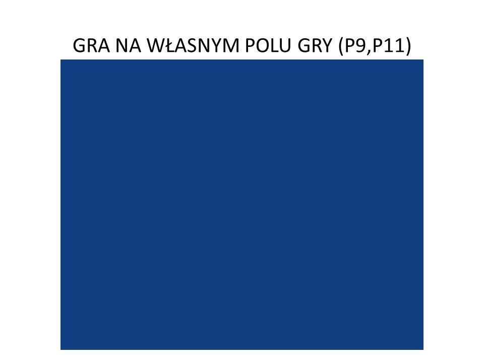GRA NA WŁASNYM POLU GRY (P9,P11)