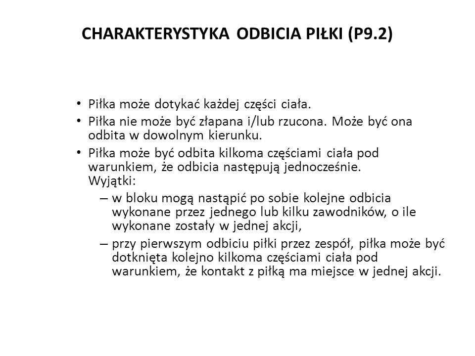 CHARAKTERYSTYKA ODBICIA PIŁKI (P9.2)