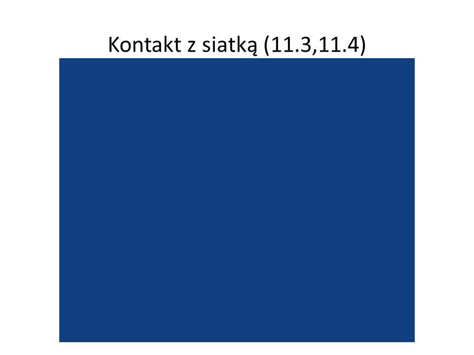 Kontakt z siatką (11.3,11.4)
