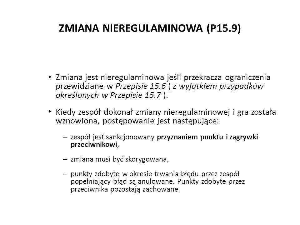 ZMIANA NIEREGULAMINOWA (P15.9)