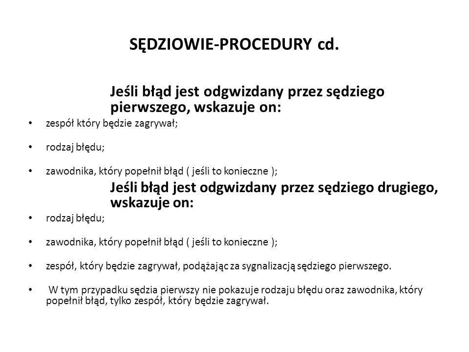 SĘDZIOWIE-PROCEDURY cd.