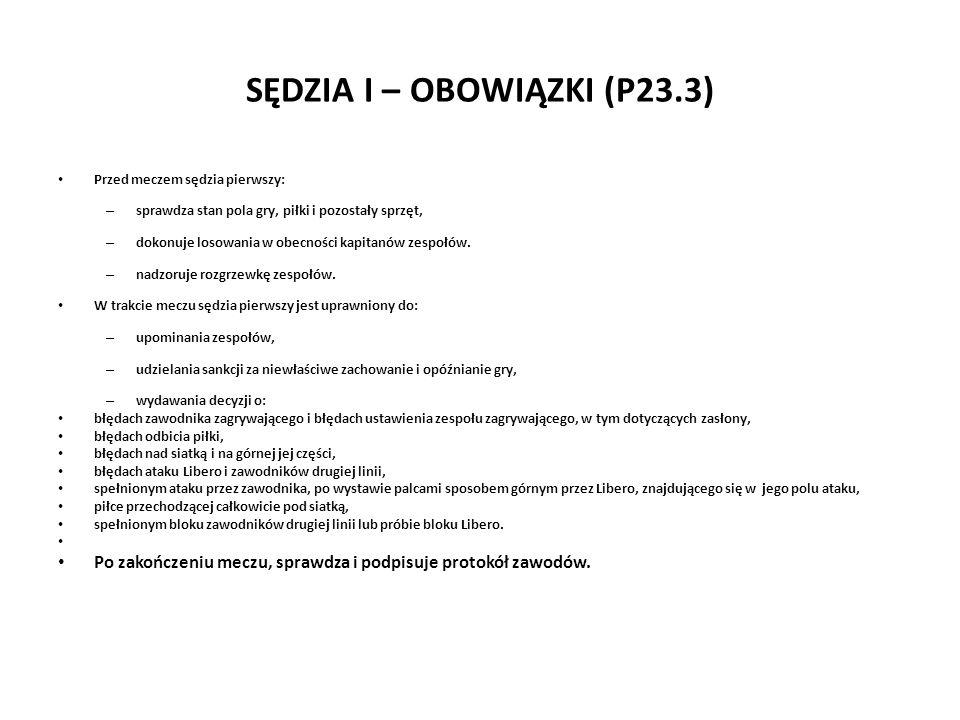 SĘDZIA I – OBOWIĄZKI (P23.3)