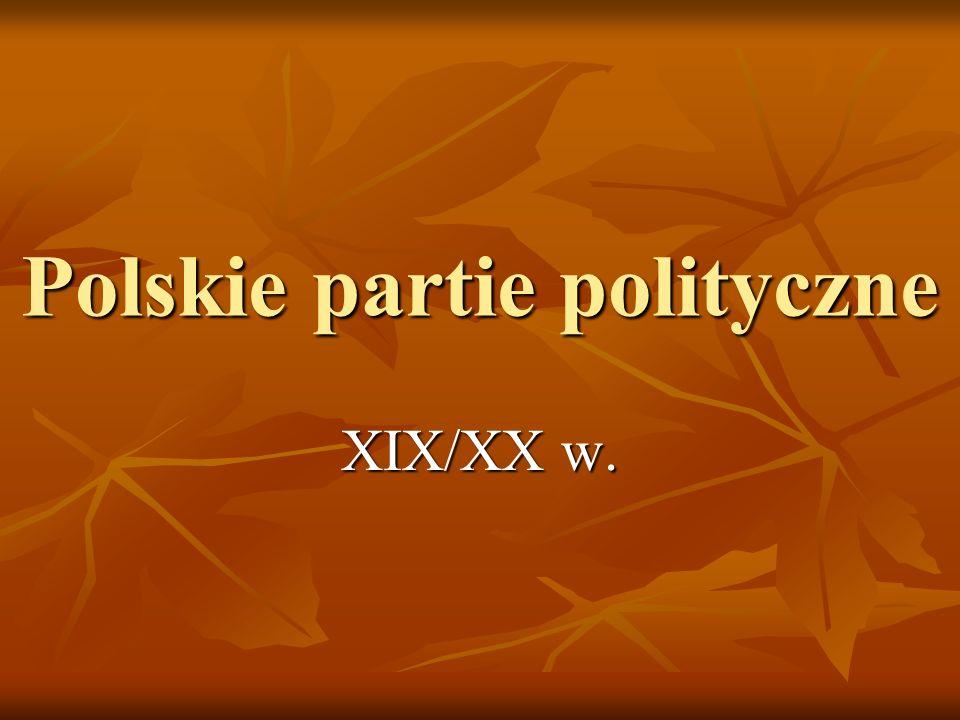 Polskie partie polityczne