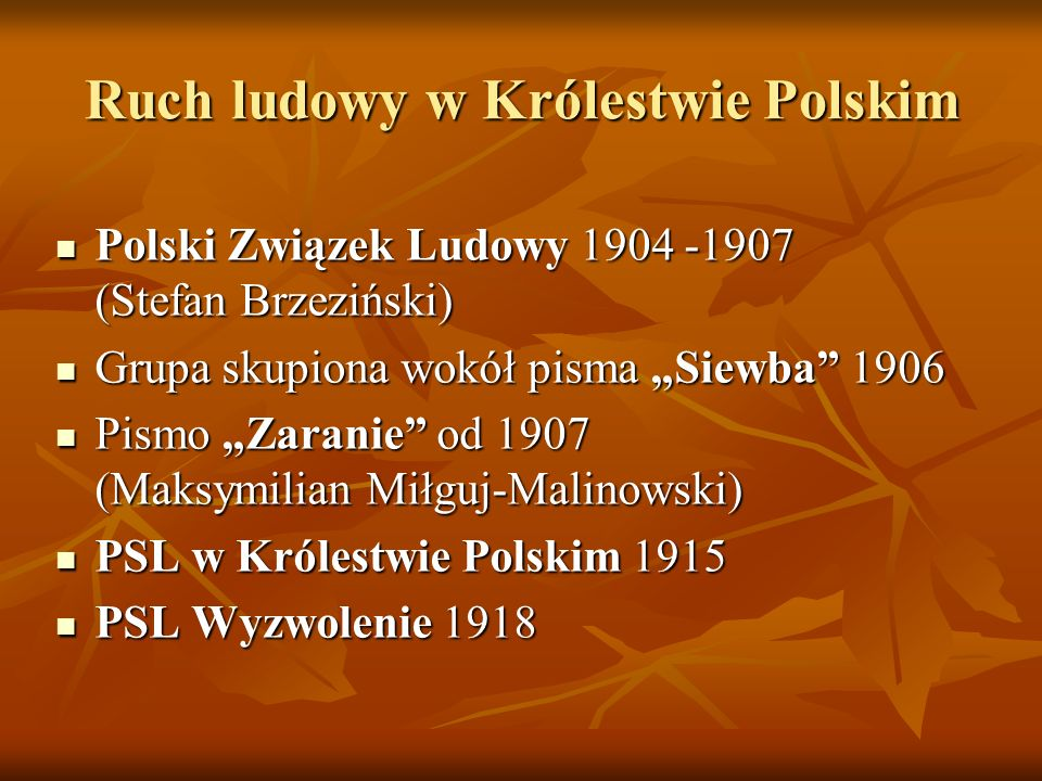 Ruch ludowy w Królestwie Polskim