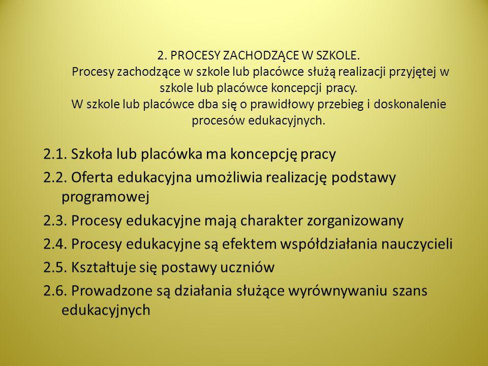 2. PROCESY ZACHODZĄCE W SZKOLE