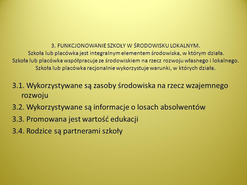 3. FUNKCJONOWANIE SZKOŁY W ŚRODOWISKU LOKALNYM