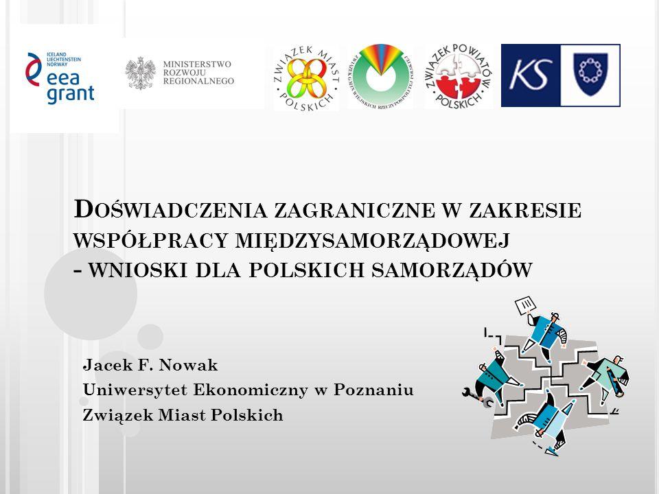 Doświadczenia zagraniczne w zakresie współpracy międzysamorządowej - wnioski dla polskich samorządów