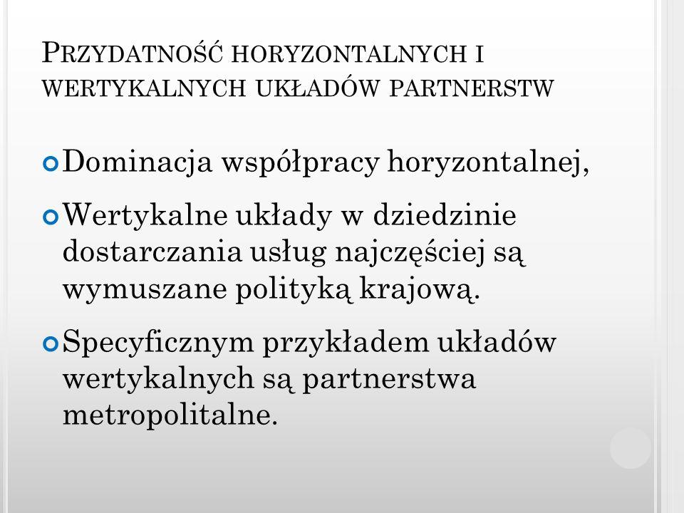 Przydatność horyzontalnych i wertykalnych układów partnerstw