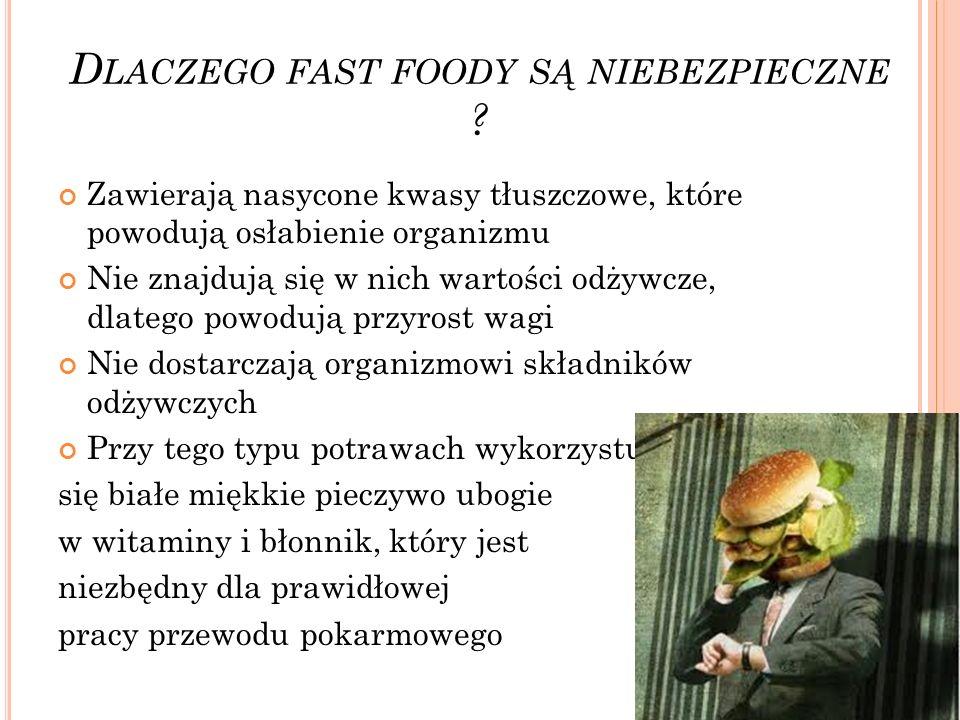 Dlaczego fast foody są niebezpieczne
