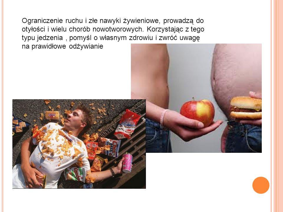 Ograniczenie ruchu i złe nawyki żywieniowe, prowadzą do otyłości i wielu chorób nowotworowych.