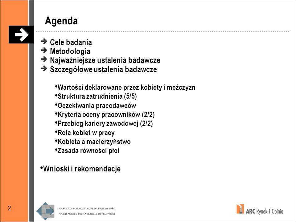 Agenda Cele badania Metodologia Najważniejsze ustalenia badawcze