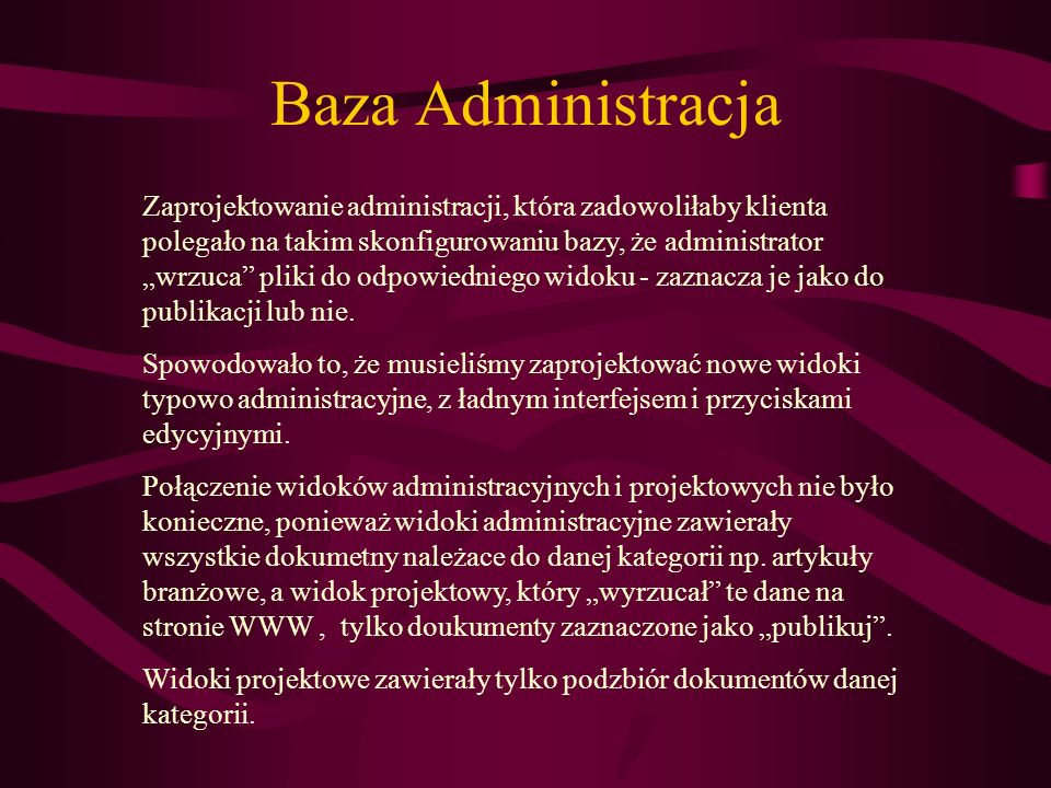 Baza Administracja