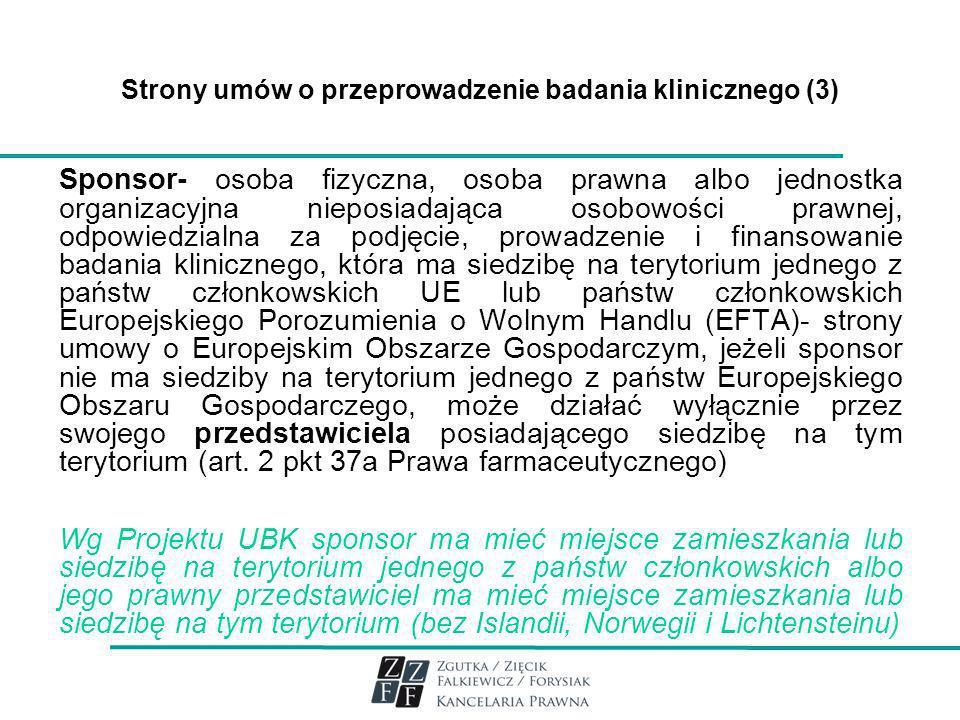 Strony umów o przeprowadzenie badania klinicznego (3)