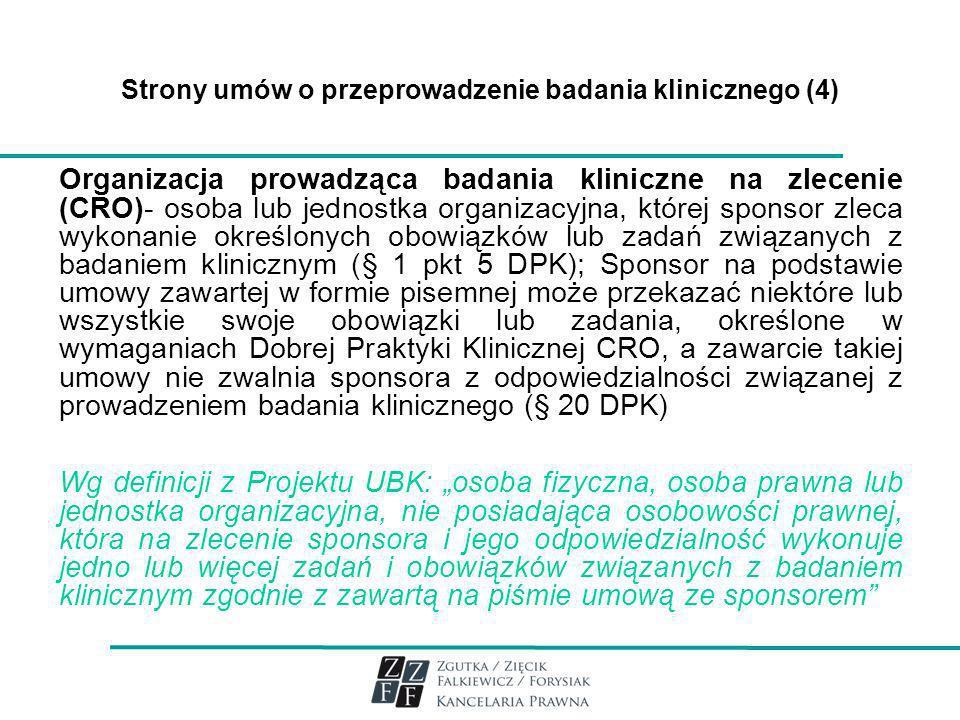 Strony umów o przeprowadzenie badania klinicznego (4)