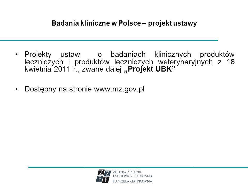 Badania kliniczne w Polsce – projekt ustawy