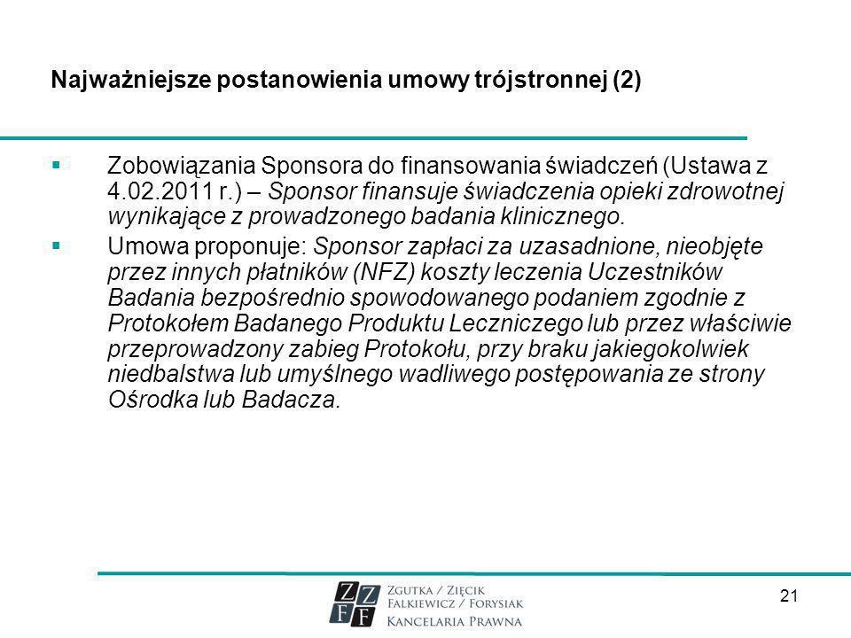Najważniejsze postanowienia umowy trójstronnej (2)