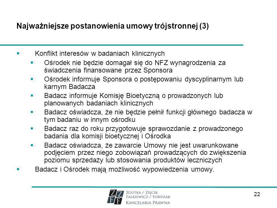 Najważniejsze postanowienia umowy trójstronnej (3)