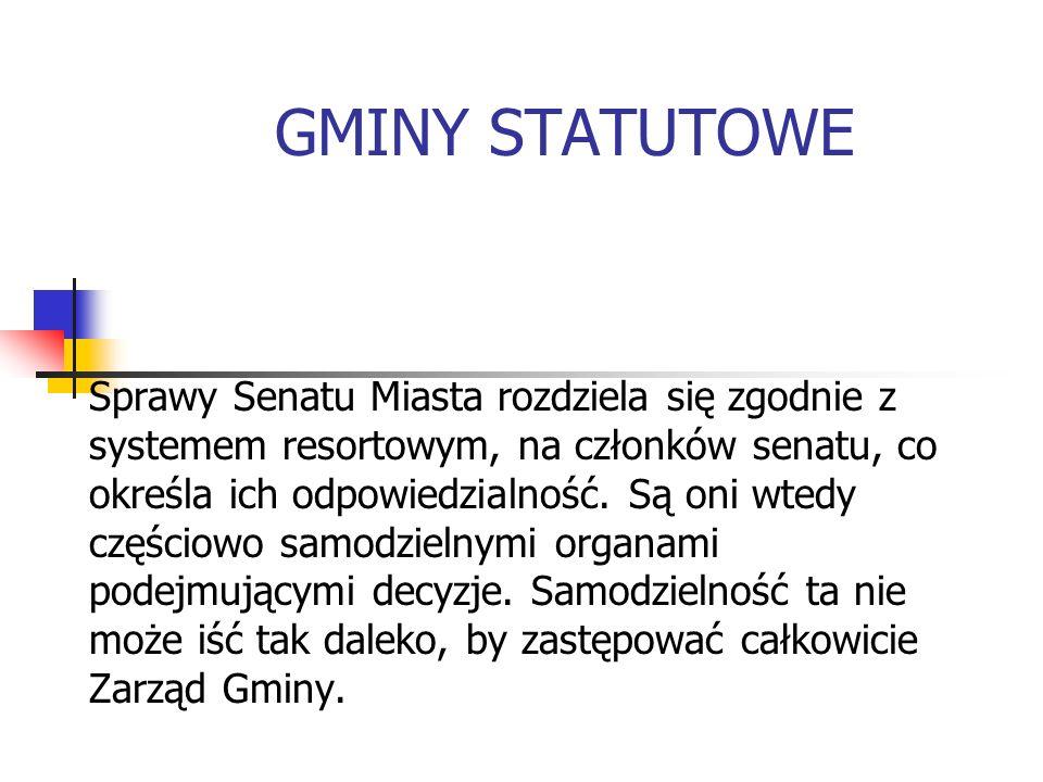 GMINY STATUTOWE
