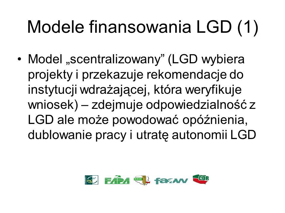 Modele finansowania LGD (1)