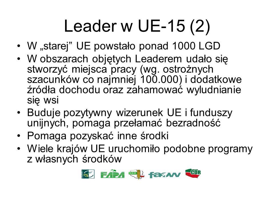 """Leader w UE-15 (2) W """"starej UE powstało ponad 1000 LGD"""