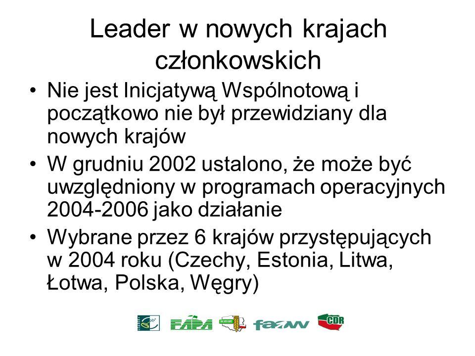 Leader w nowych krajach członkowskich