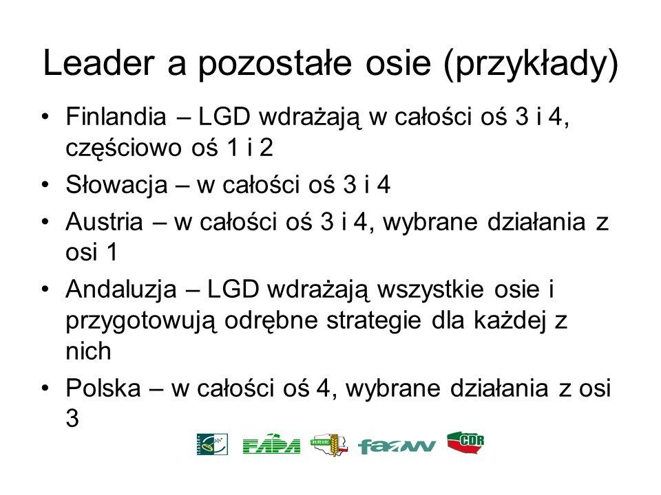Leader a pozostałe osie (przykłady)