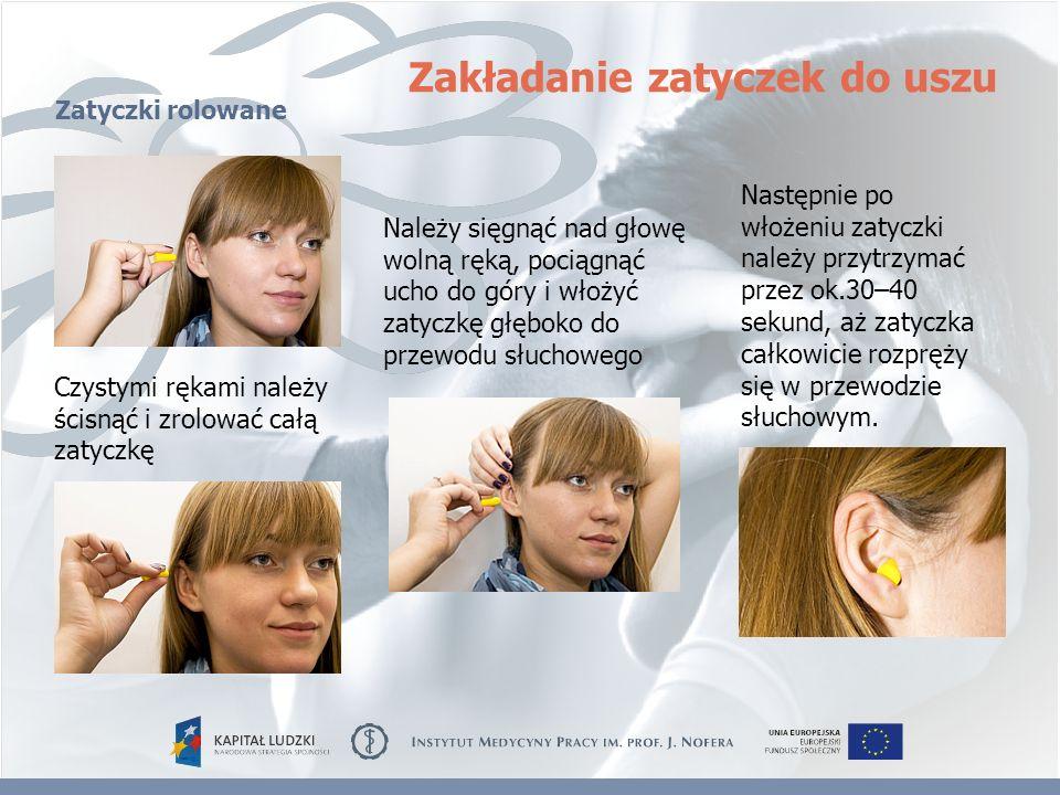 Zakładanie zatyczek do uszu