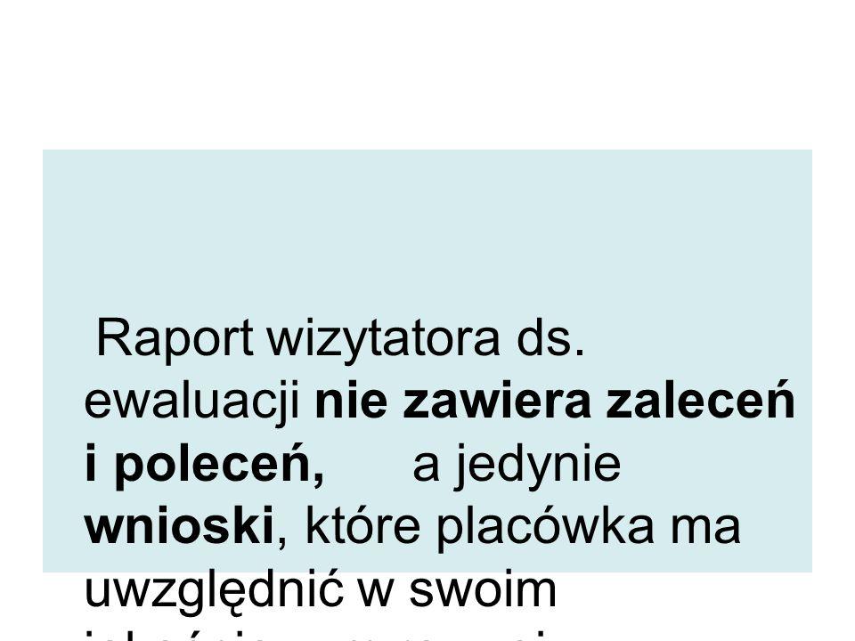 Raport wizytatora ds.