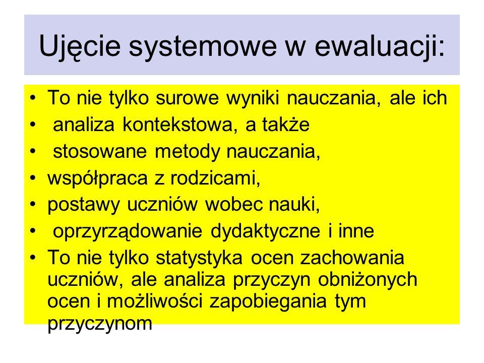 Ujęcie systemowe w ewaluacji:
