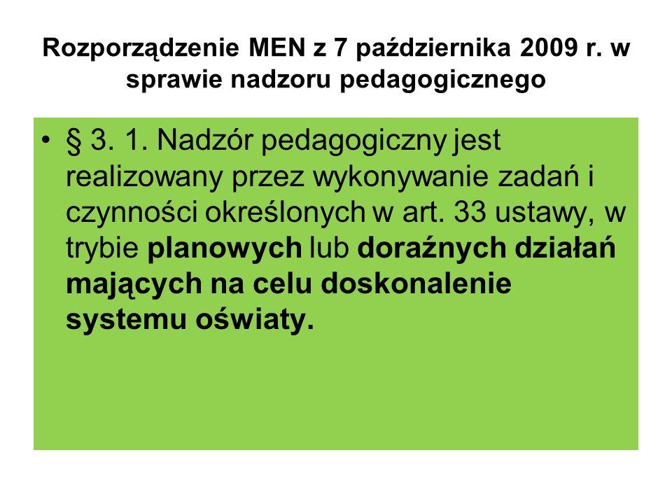 Rozporządzenie MEN z 7 października 2009 r