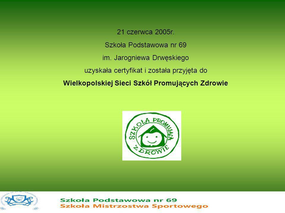 Wielkopolskiej Sieci Szkół Promujących Zdrowie
