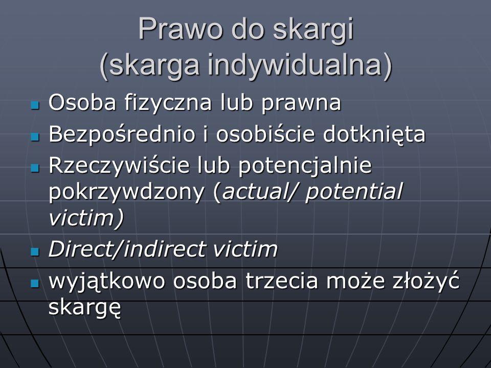 Prawo do skargi (skarga indywidualna)