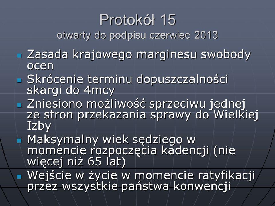 Protokół 15 otwarty do podpisu czerwiec 2013