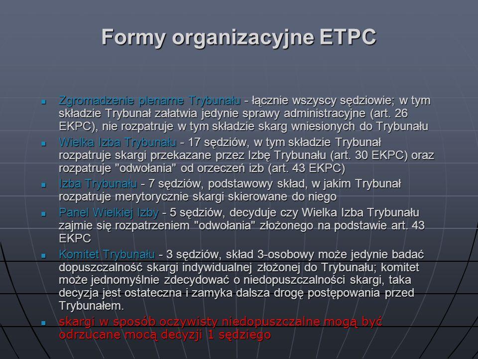 Formy organizacyjne ETPC