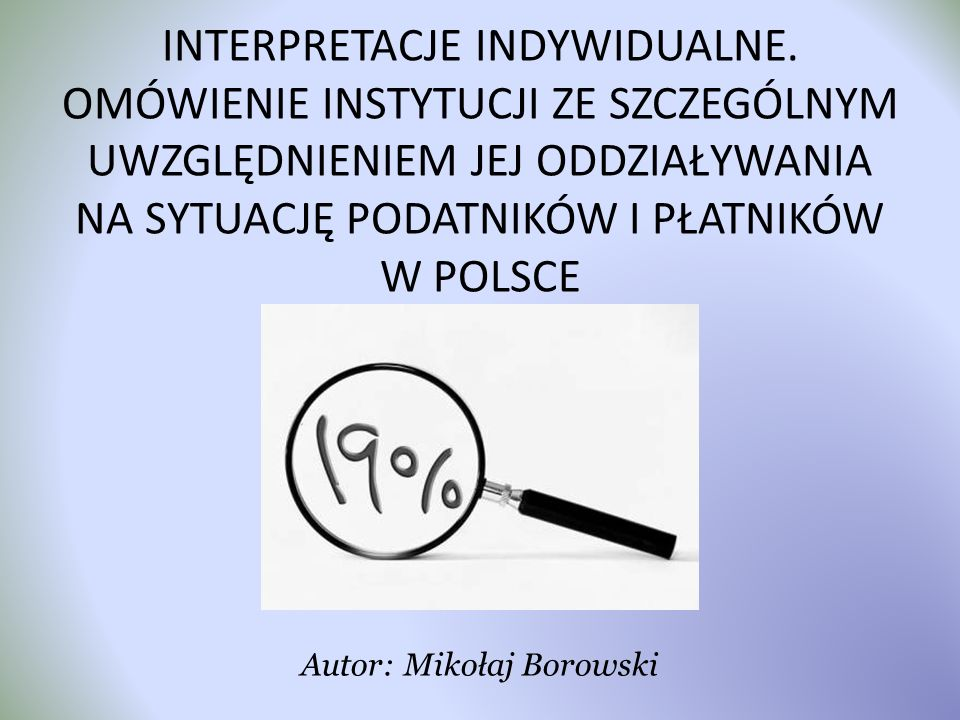 Autor: Mikołaj Borowski