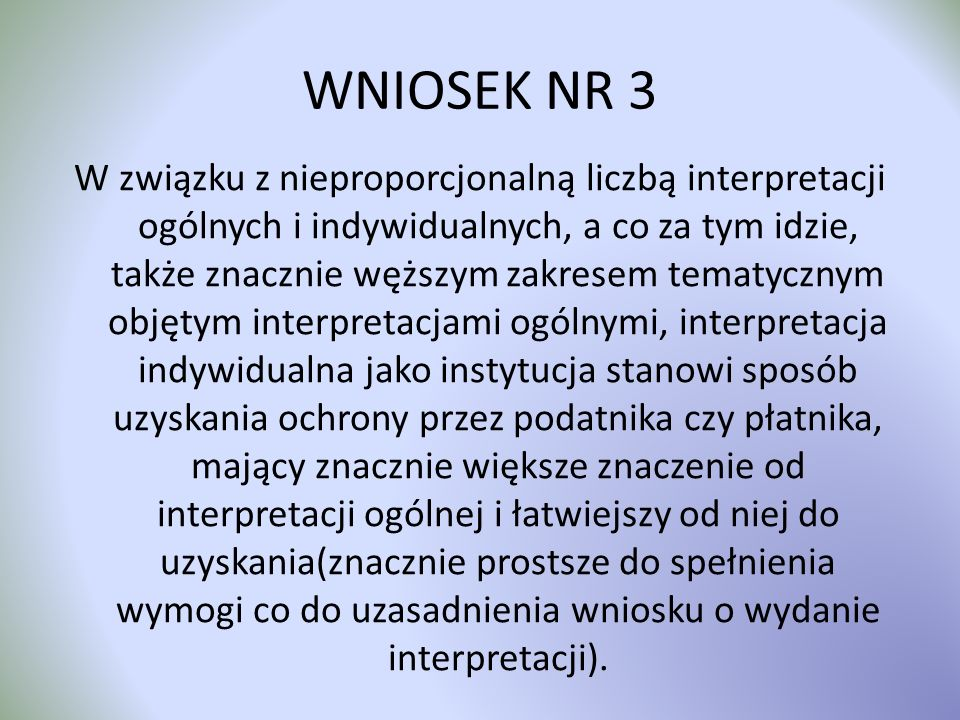 WNIOSEK NR 3