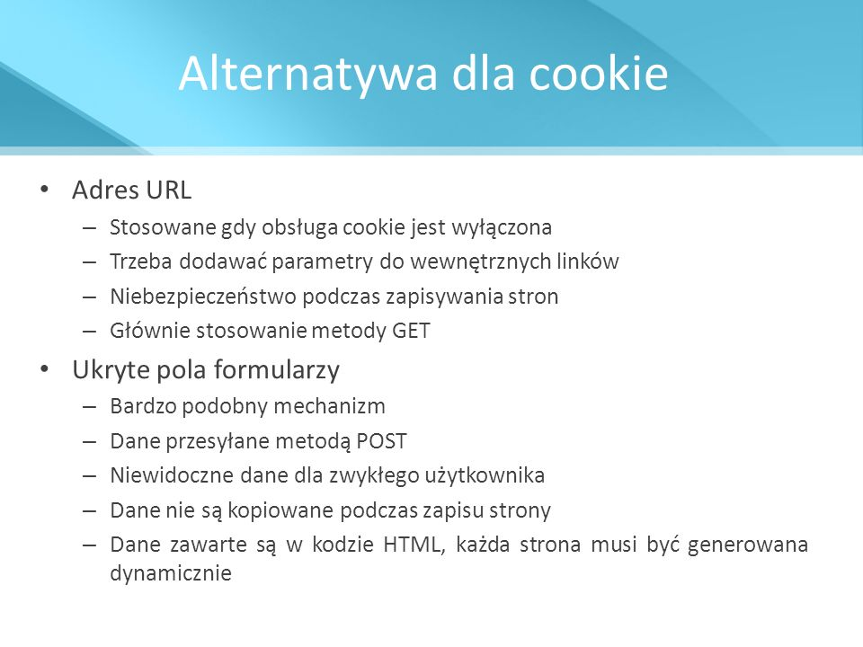 Alternatywa dla cookie